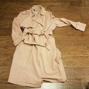 Dusty mauve lightweight trench